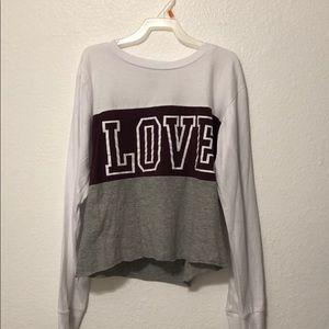 Girls long sleeve tee shirt.